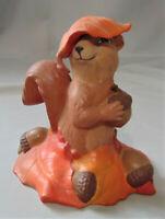 "SQUIRREL WITH LEAF ON HEAD Provincial Ceramic Mold 5"""