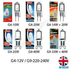G4 G9 Capsule Light Bulb Halogen 10W 20W 14W 25W 40W 12v 240v Eveready Energizer
