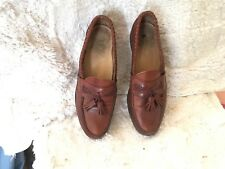 Allen Edmonds Loafers Brown Leather with Tassels Size 9B