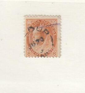 CANADA (MK6739) # 82 F-USED 8cts 1898 QUEEN VICTORIA NUMERAL / ORANGE CV $15