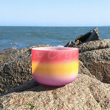 "10"" C Root Rainbow Quartz Crystal Singing Bowl Meditation Heal Stone"