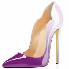 Ladies High Heels Classic Pumps Pointed Toe Patent Leather Stilettos Shoes Party