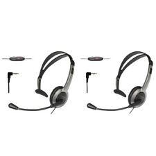 KX-TCA430 for Uniden Phones (2-Pack) Foldable Over the Head Headset
