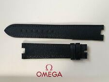 Nueva Marca Omega 18mm Negro Correa De Cuero Nº 97551064-por favor leer descripción