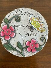 Love Blooms Here Mosaic Garden Stone