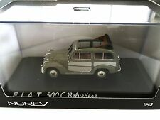Fiat 500 Belvédère 1952 - Green / Grey 1:43 NOREV DIECAST MODEL CAR