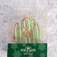 Kurt S Adler Donut Christmas Ornament Green Glazed Holiday Tree Decoration New