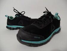 Reebok Sublite Work Alloy Toe Athletic Cushion  Shoes Women's Size 9W BLACK-BLUE