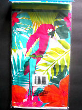 "Parrot Colorful Luau Party Lightweight Plastic Table Cover 54"" x 108"" BRAND NEW!"