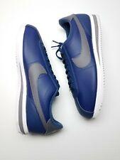 Nike Cortez Classic Basic Leather Navy Gunsmoke Shoes 819719-400 Men Size 12