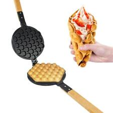 Egg Waffle Maker Mold | Replaceable 180 Degree Rotating Waffe Iron | Nonstick