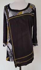 TAKING SHAPE TS Black/White/Lime Mesh Stretch Knit Top Size XS