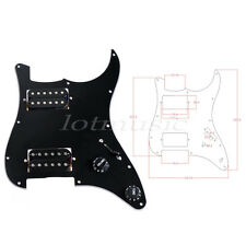 Electric Guitar Prewired Loaded Pickguard for Stratocaster Strat Parts HH Black