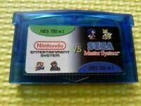 Cartouche GBA Gameboy Advance Multicart Collection 150 NES + 106 jeux SMS en 1