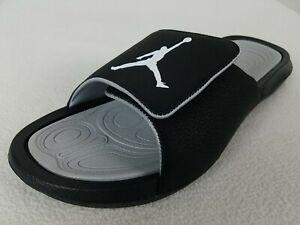 Nike Jumpman Jordan Hydro 6 Slides Men's Size 10-11 Black Wolf Gray 881473-011