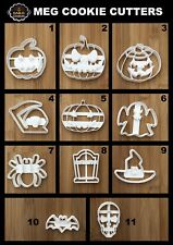 Halloween SET Uk Seller Plastic Biscuit Cookie Cutter Fondant Cake Decorating