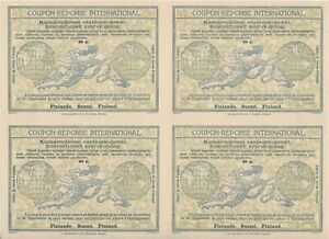 FINLAND - International reply coupon - Block of 4 - Rome model - 60p.