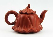 CHINESE YIXING ZISHA CLAY POTTERY ARTISTIC RED TEAPOT AND COVER NEW # 24