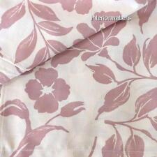 LAURA ASHLEY floral CURTAINS Window PANELS DRAPES SET mauve dusty pink new