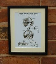 USA Patent Drawing vintage STEAM PUNK WELDERS GOGGLES MOUNTED PRINT 1940 Xmas