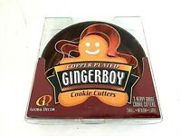 Gingerboy Cookie Cutters Copper Plated 3 Pc with Tin New in Box