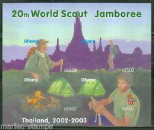 GHANA  IMPERF 20TH WORLD SCOUT JAMBOREE 2003  SHEET SC#2327   MINT NH