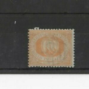 SAN MARINO , 1892, SG22 TYPE 1 30c YELLOW, MH     CV £8.00+