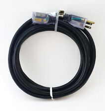 15' 12 Gauge Black Indoor/Outdoor Extension Cord with Lighted End - MADE IN USA