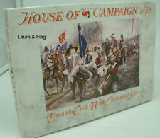 A CALL TO ARMS 62. ENGLISH CIVIL WAR COMMAND SET 1:72 SCALE PLASTIC FIGURES