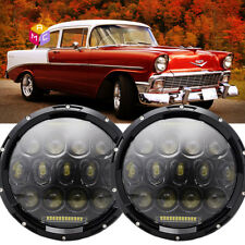 2x 7inch Round LED Headlights Hi/Low Beam Fit Buick Chevy Classic Vehicles truck