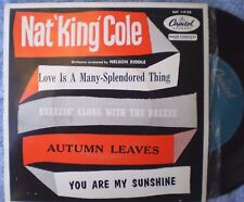 """NAT KING COLE-LOVE IS A MANY SPLENDORED THING """"RARE OZ EP"""" 45 RPM"""