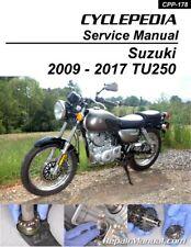 Suzuki TU250X 2009 - 2017 Motorcycle Printed Service Manual by Cyclepedia