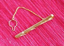 SUJETACORBATAS ORO con piedra (TIE CLIP, PIN, GOLD with jewel). Sin Uso, Unused.