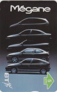BT Private 385 Car, Renault Megane Mint phonecard.