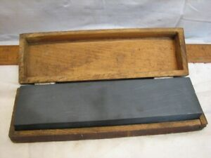 Hard Razor Knife Sharpening Stone Hone Oilstone Oil Tool Wooden Fitted Box