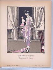 """Etienne Drian, Gazette du Bon Ton """"Que Vas-Tu Faire""""  1920"""
