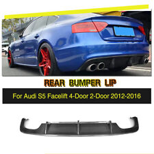 Carbon Fiber Auto Rear Bumper Lip Diffuser Black Fit for Audi S5 2012-2016