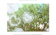 Embellissements blancs pour scrapbooking mariage