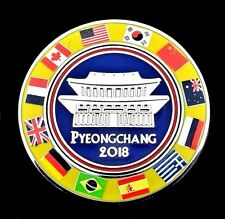 NEW TEMPLE FLAGS AROUND THE WORLD 2018 PYEONGCHANG KOREA OLYMPIC PIN FOR MEDIA