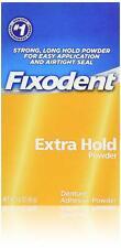 Fixodent Denture Adhesive Powder, Extra Hold - 1.6 Oz