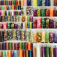 24 Pcs 3D Nail Art Set. Glitter Sequins Milers Rhinestones Beads Assorted Colors