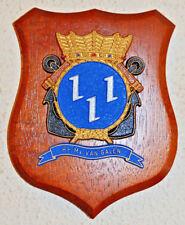 Hr Ms Van Galen plaque shield crest Dutch Navy frigate Netherlands gedenkplaat
