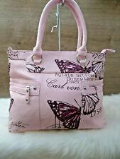 Neues AngebotDamen  Sommertasche Handtasche Shopper Tragetasche 2 Henkel  rosa pink NEU