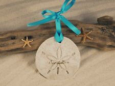 PUERTO RICO Sand Dollar Made with Sand Beach Ornament