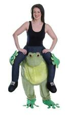 Adults Animal Piggy Back Costume Mens Ladies Frog Fancy Dress Novelty