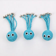 1pcs Cat Toys Cute Blue Octopus Shape Woven Rope Toys with Bells Interactive Toy
