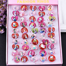 5 Pcs Children/Kids Mixed Lots Cartoon Plastic Rings Jewellery Girl's Toy Gifts