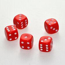 100 Stück 16mm Rote Knobel Würfel / Augen Würfel Spielwürfel von Frobis