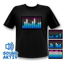 Equalizer LED-Shirt Party T-Shirt geschenk mann licht led leuchtend Festival