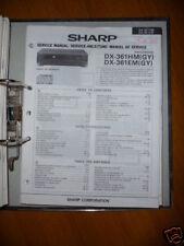 manuel de Service pour Sharp DX-361HM/EM Lecteur CD ORIGINAL